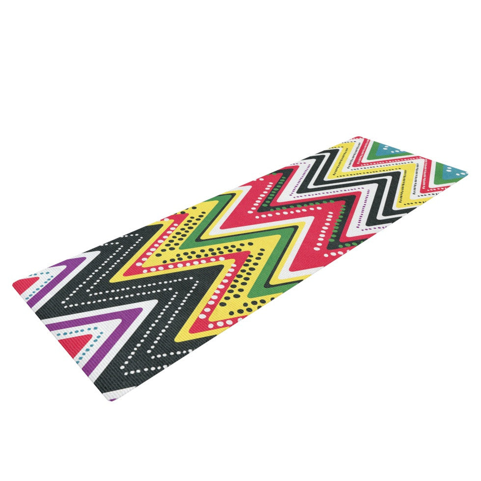 "Heidi Jennings ""Jamaican Me Crazy"" Yellow Red Yoga Mat - KESS InHouse  - 1"