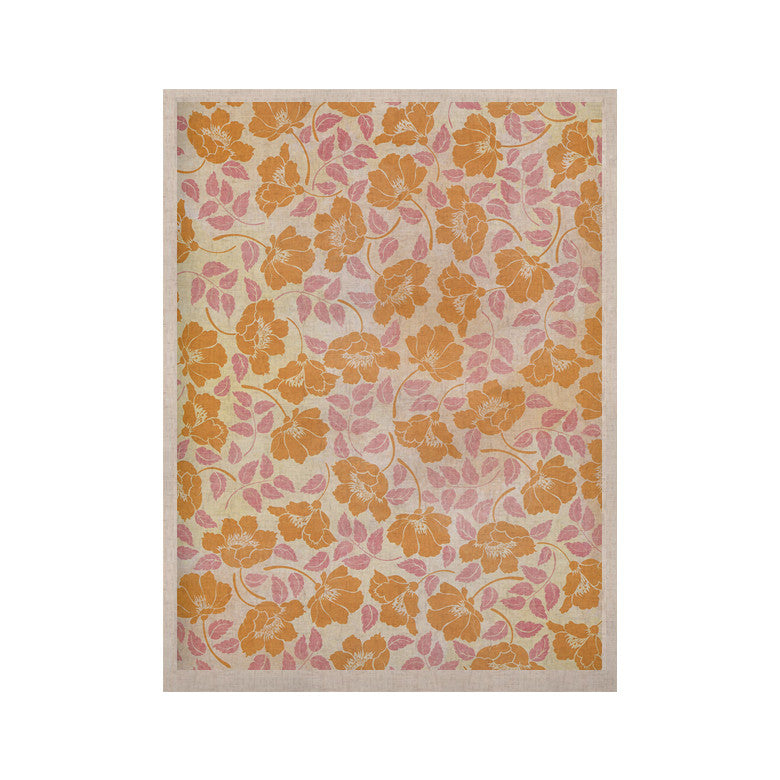 "Heidi Jennings ""Sun Kissed Petals"" Orange Pink KESS Naturals Canvas (Frame not Included) - KESS InHouse  - 1"
