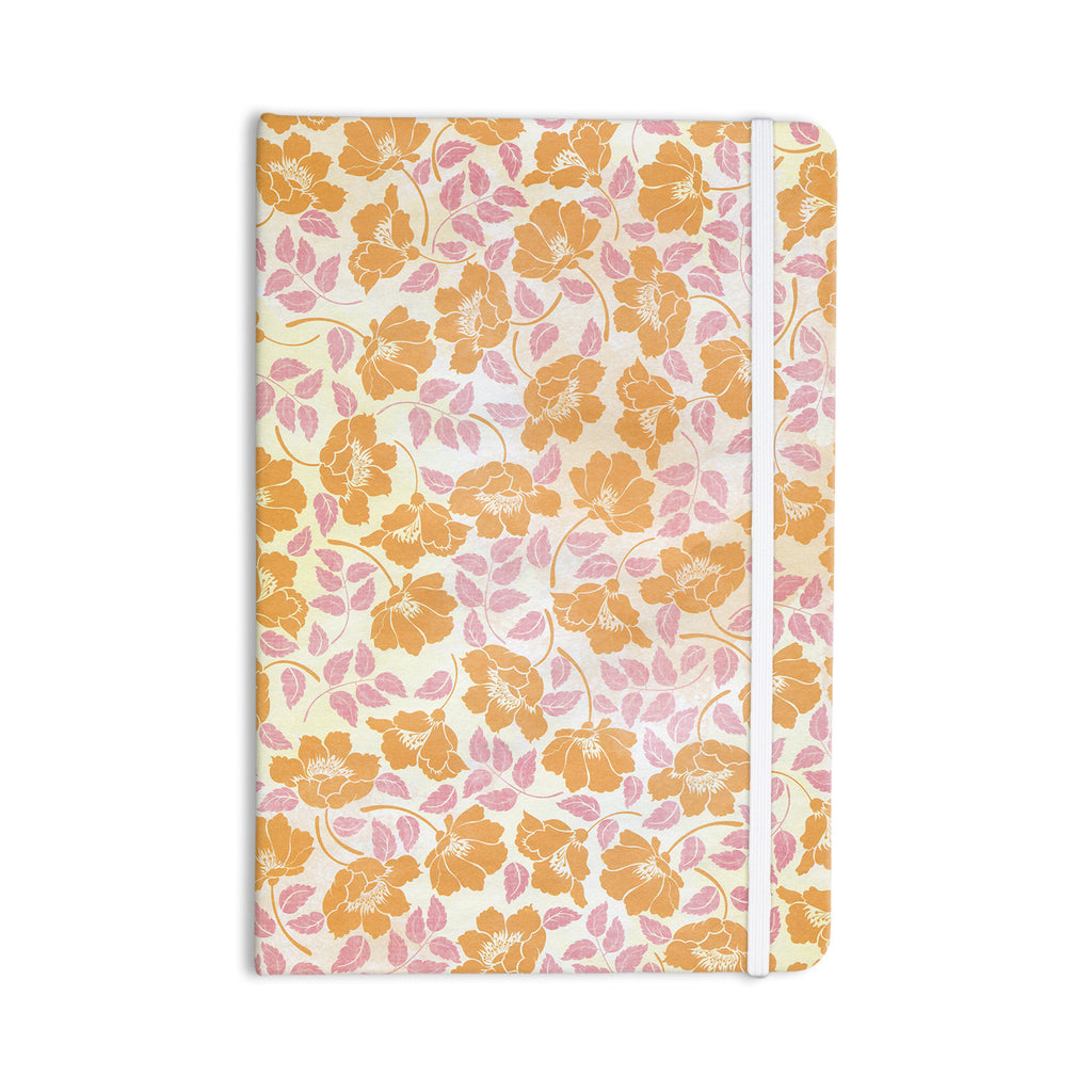 "Heidi Jennings ""Sun Kissed Petals"" Orange Pink Everything Notebook - KESS InHouse  - 1"