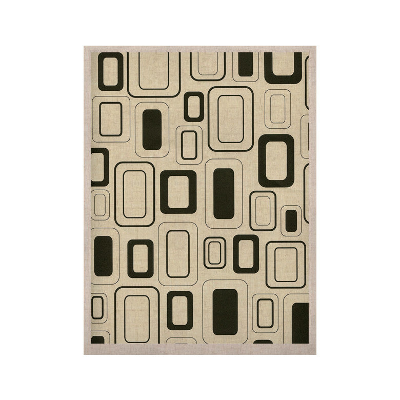 "Heidi Jennings ""Cubes For Days"" Neutral White KESS Naturals Canvas (Frame not Included) - KESS InHouse  - 1"