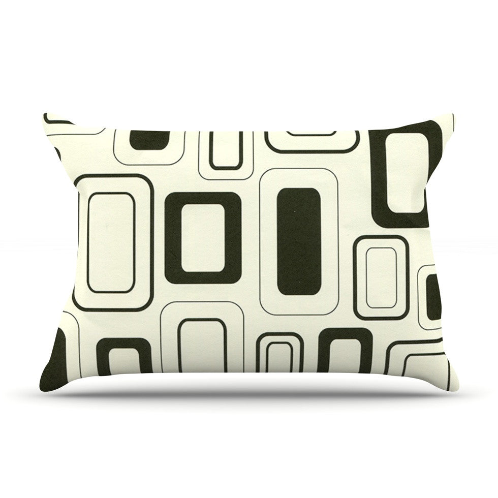 "Heidi Jennings ""Cubes For Days"" Neutral White Pillow Sham - KESS InHouse"