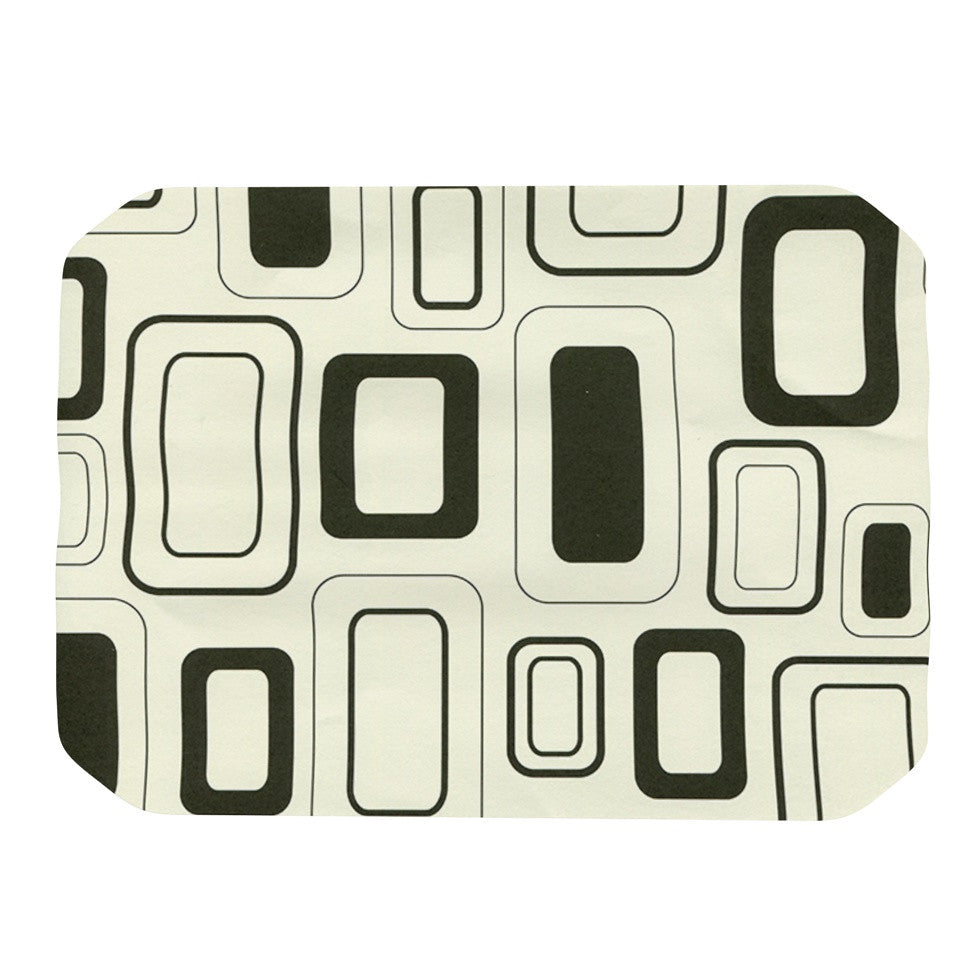 "Heidi Jennings ""Cubes For Days"" Neutral White Place Mat - KESS InHouse"