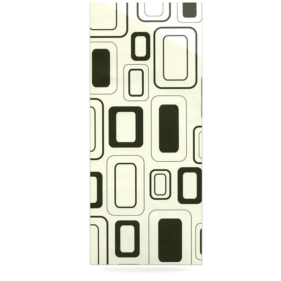 "Heidi Jennings ""Cubes For Days"" Neutral White Luxe Rectangle Panel - KESS InHouse  - 1"