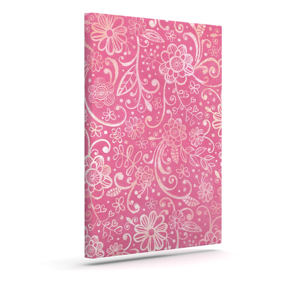 "Heidi Jennings ""Too Much Pink"" Magenta Floral Canvas Art - KESS InHouse  - 1"