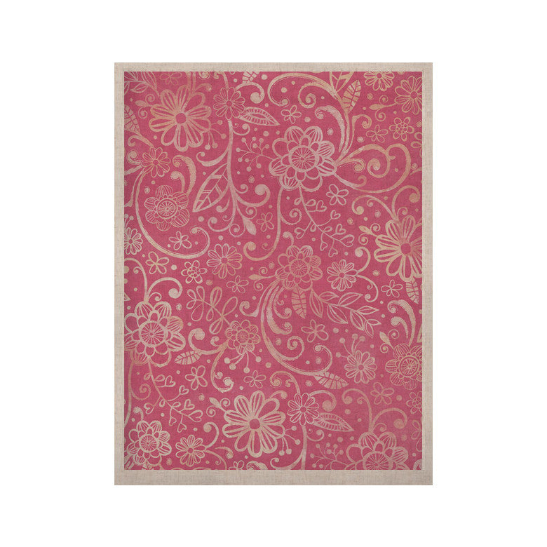"Heidi Jennings ""Too Much Pink"" Magenta Floral KESS Naturals Canvas (Frame not Included) - KESS InHouse  - 1"