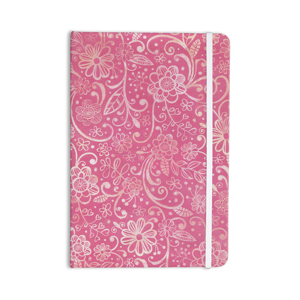 "Heidi Jennings ""Too Much Pink"" Magenta Floral Everything Notebook - KESS InHouse  - 1"