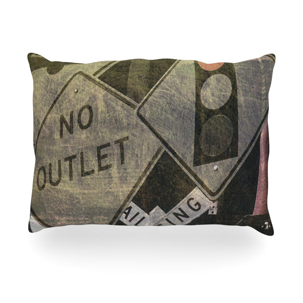 "Heidi Jennings ""City Outing"" Urban Signs Oblong Pillow - KESS InHouse"