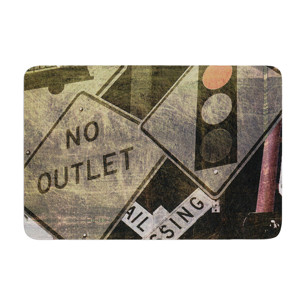 "Heidi Jennings ""City Outing"" Urban Signs Memory Foam Bath Mat - KESS InHouse"