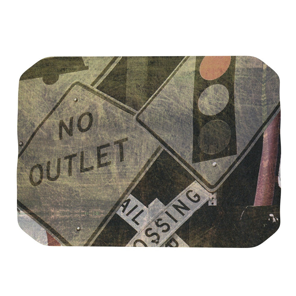 "Heidi Jennings ""City Outing"" Urban Signs Place Mat - KESS InHouse"