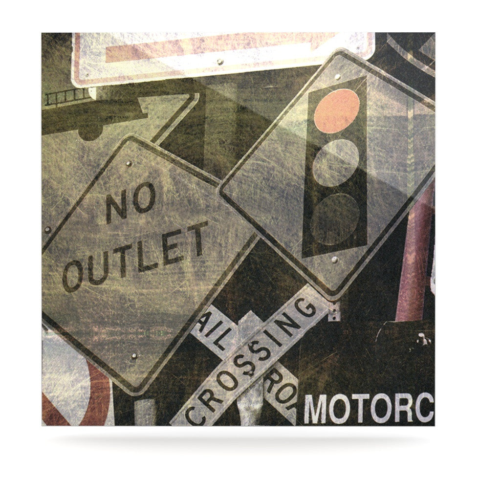 "Heidi Jennings ""City Outing"" Urban Signs Luxe Square Panel - KESS InHouse  - 1"