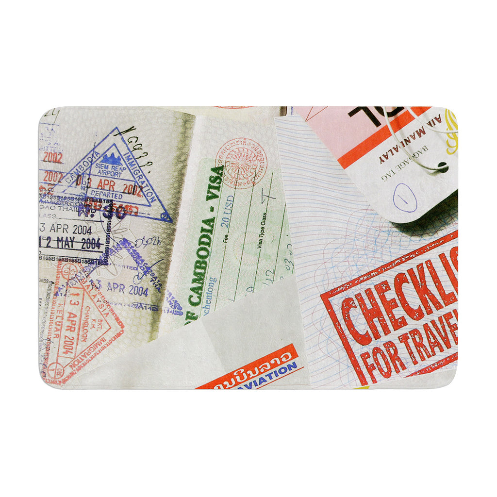 "Heidi Jennings ""Travel The World"" Passport Memory Foam Bath Mat - KESS InHouse"