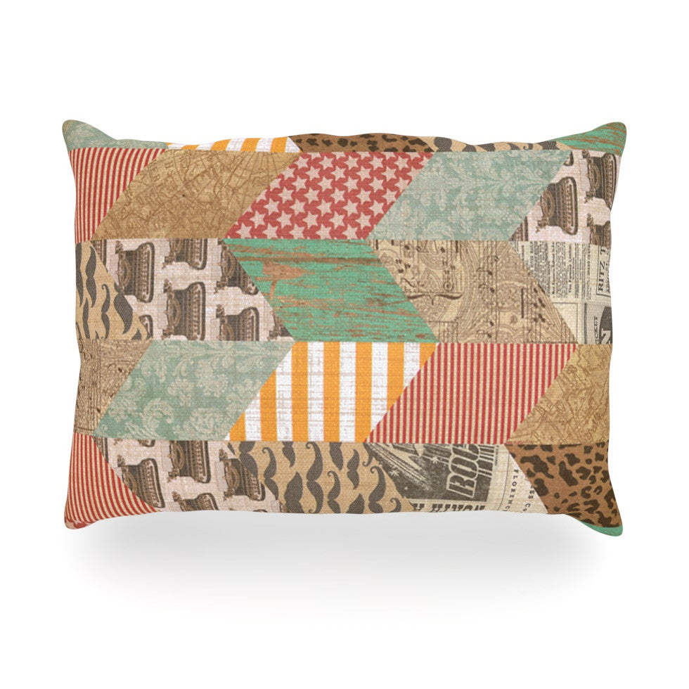 "Heidi Jennings ""Hodge Podge"" Vintage Texture Oblong Pillow - KESS InHouse"