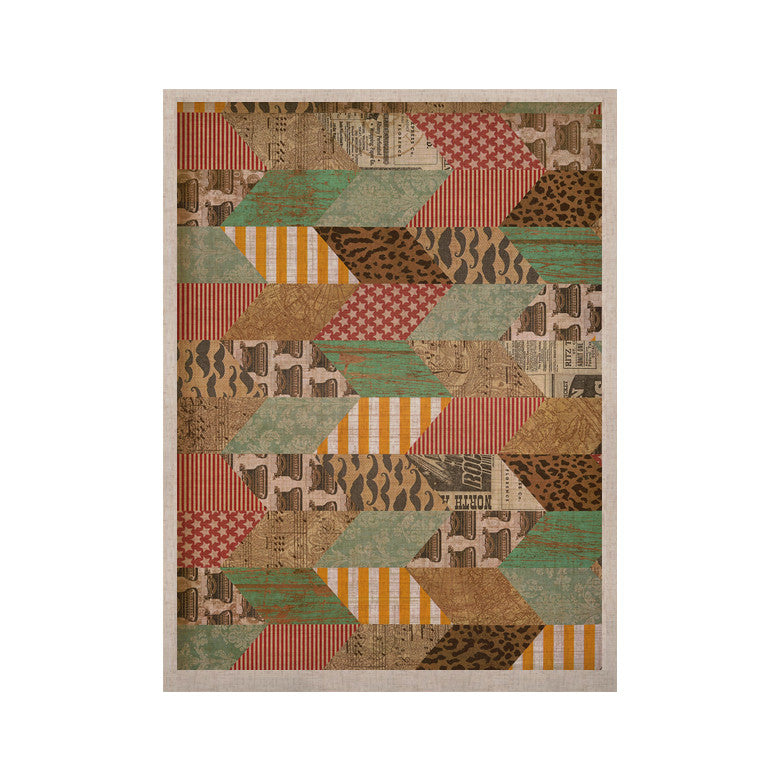 "Heidi Jennings ""Hodge Podge"" Vintage Texture KESS Naturals Canvas (Frame not Included) - KESS InHouse  - 1"