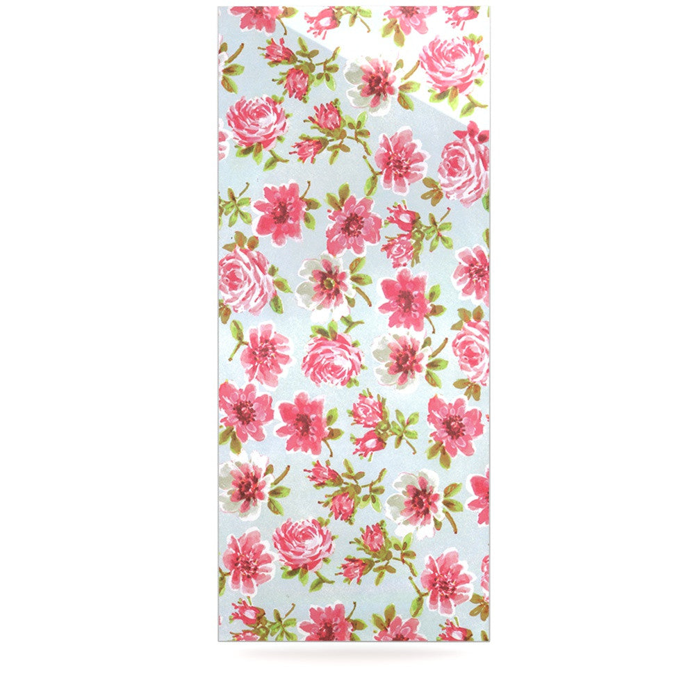 "Heidi Jennings ""Petals Forever"" Blue Pink Luxe Rectangle Panel - KESS InHouse  - 1"