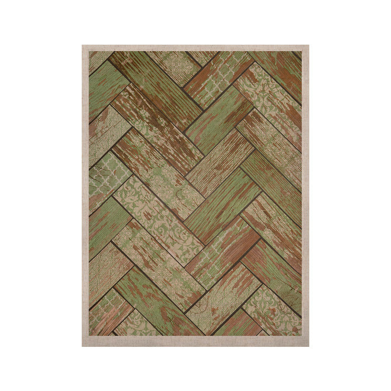 "Heidi Jennings ""Patina"" Green Wood KESS Naturals Canvas (Frame not Included) - KESS InHouse  - 1"