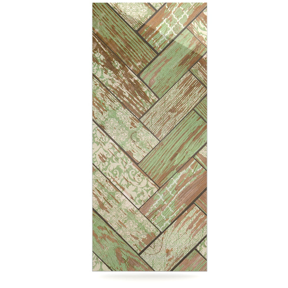 "Heidi Jennings ""Patina"" Green Wood Luxe Rectangle Panel - KESS InHouse  - 1"