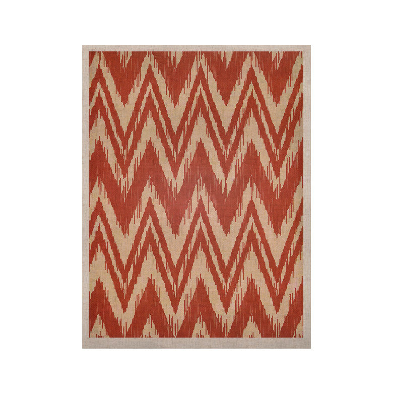 "Heidi Jennings ""Tribal Chevron Red"" Tan Maroon KESS Naturals Canvas (Frame not Included) - KESS InHouse  - 1"