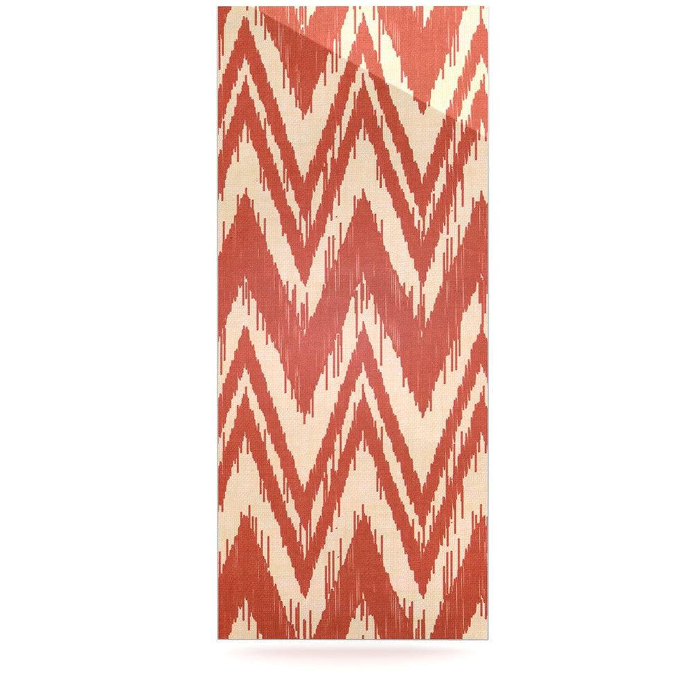 "Heidi Jennings ""Tribal Chevron Red"" Tan Maroon Luxe Rectangle Panel - KESS InHouse  - 1"