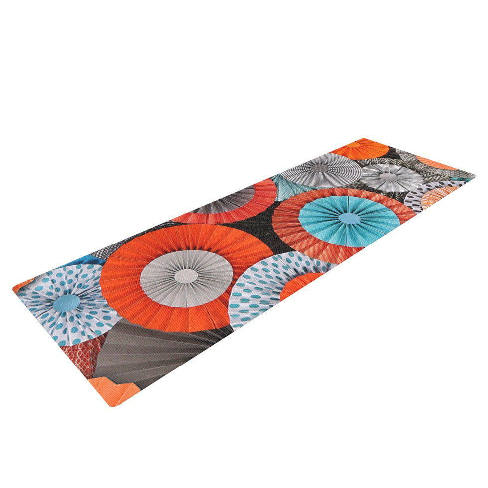 "Heidi Jennings ""Breaking Free"" Orange Blue Yoga Mat - KESS InHouse  - 1"