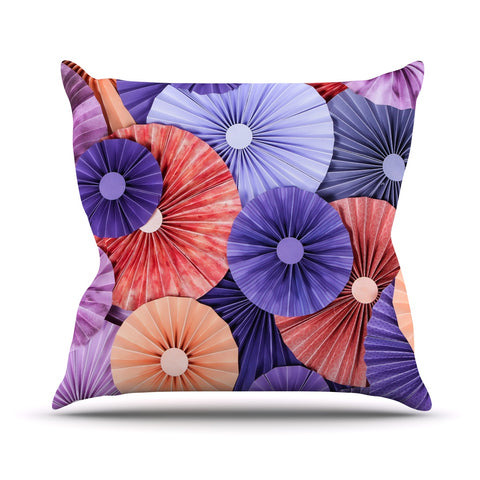 "Heidi Jennings ""Raspberry Sherbert"" Purple Blue Throw Pillow - Outlet Item - KESS InHouse"