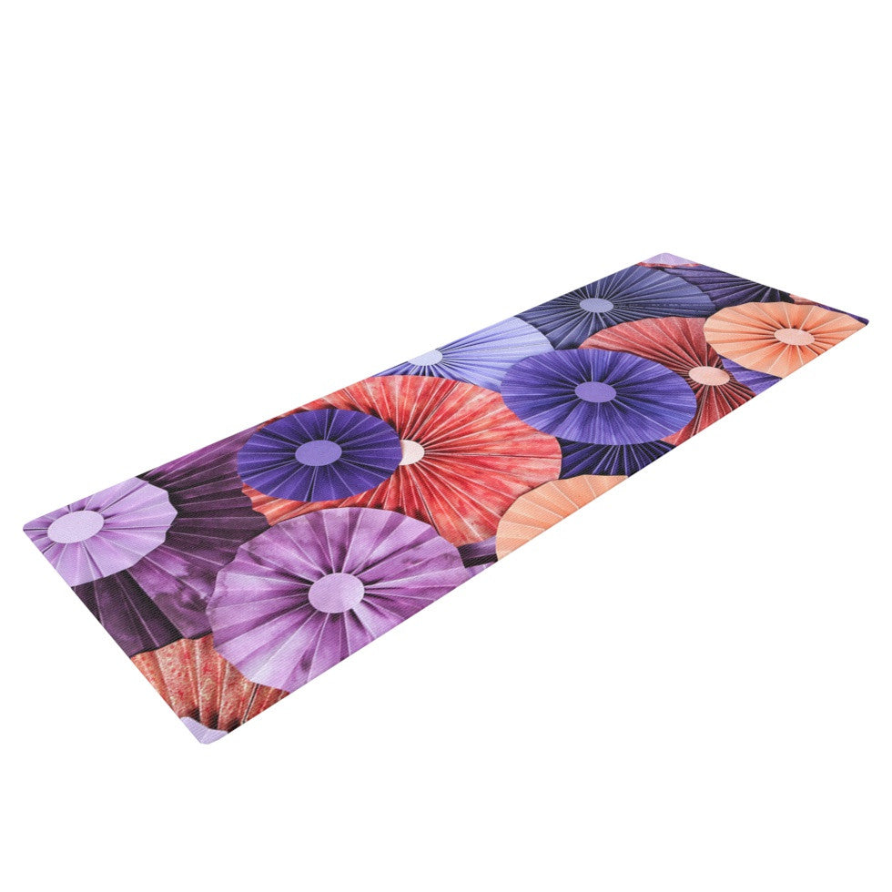 "Heidi Jennings ""Raspberry Sherbert"" Purple Blue Yoga Mat - KESS InHouse  - 1"