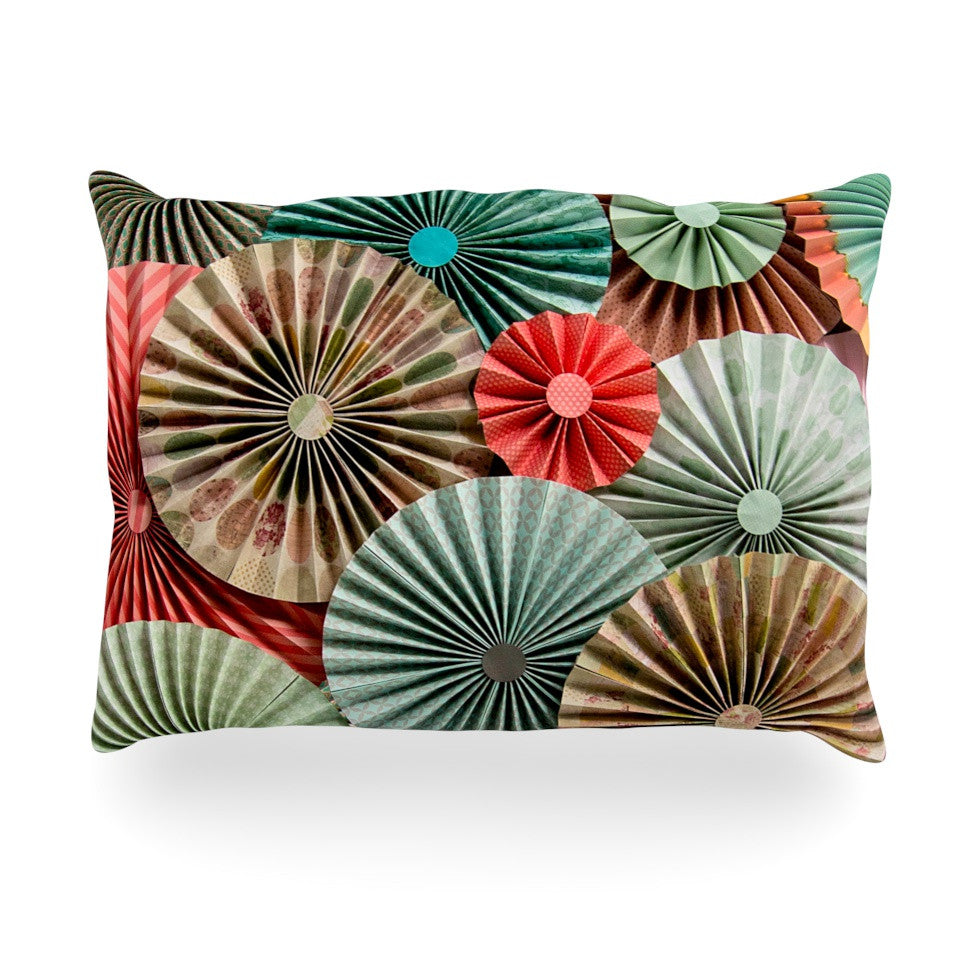 "Heidi Jennings ""Sherbert"" Teal Brown Oblong Pillow - KESS InHouse"