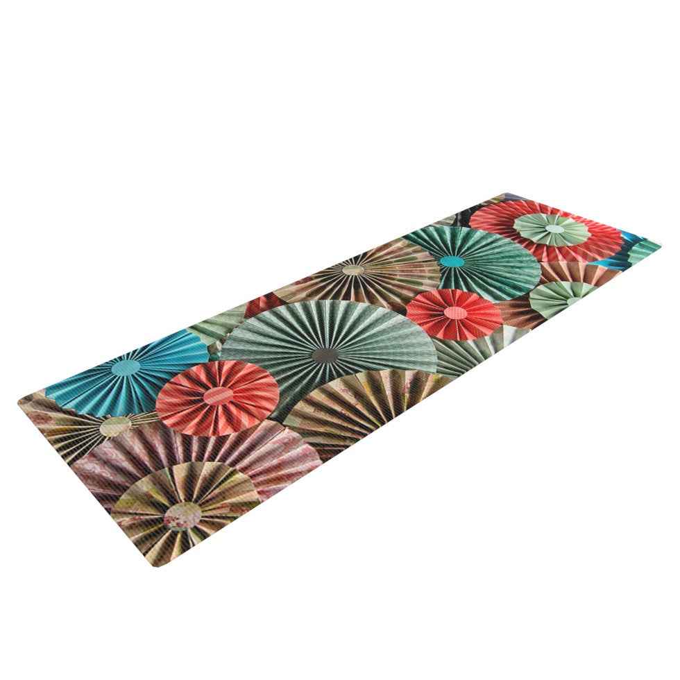 "Heidi Jennings ""Sherbert"" Teal Brown Yoga Mat - KESS InHouse  - 1"