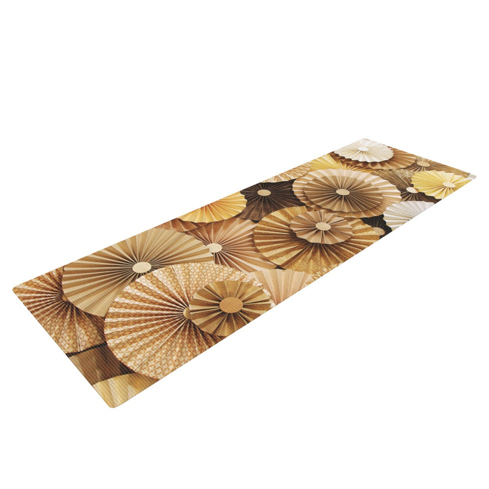 "Heidi Jennings ""Caramel Latte"" Yellow Gold Yoga Mat - KESS InHouse  - 1"