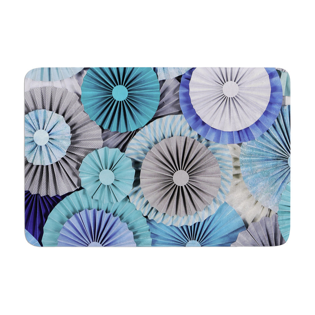 "Heidi Jennings ""Brunch at Tiffany's"" Aqua Blue Memory Foam Bath Mat - KESS InHouse"