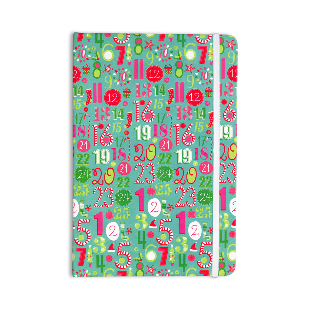 "Heidi Jennings ""Merry Countdown"" Green Pink Everything Notebook - KESS InHouse  - 1"