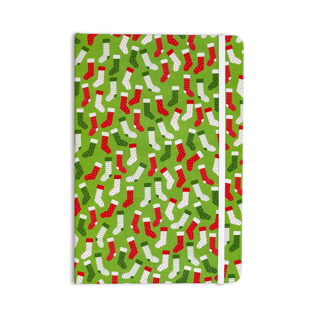 "Heidi Jennings ""Stocking Season"" Red Green Everything Notebook - KESS InHouse  - 1"