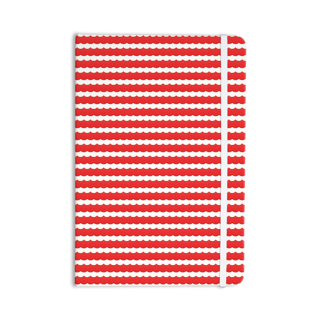 "Heidi Jennings ""Feeling Festive"" Red White Everything Notebook - KESS InHouse  - 1"