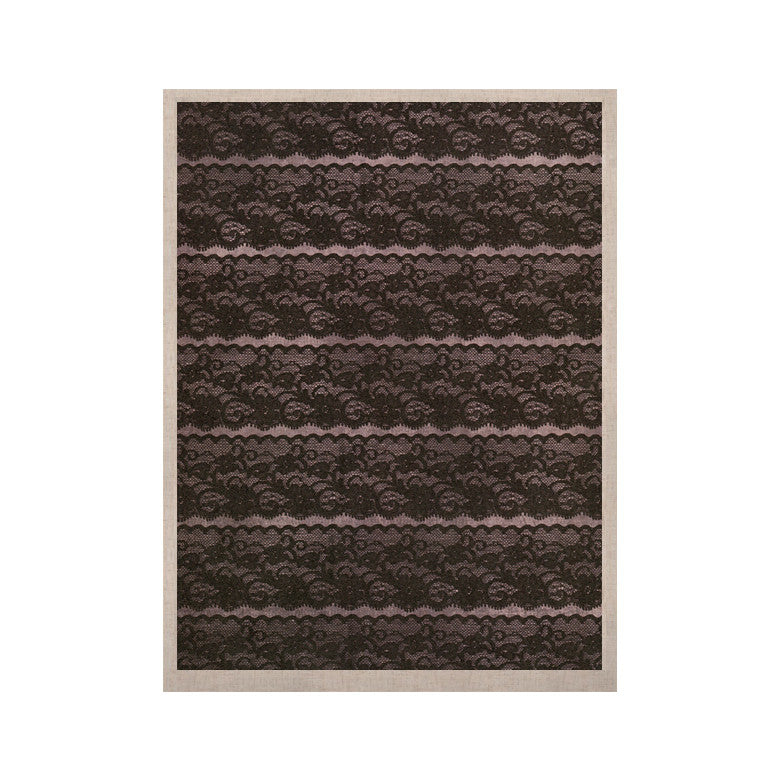 "Heidi Jennings ""Black Lace"" Gray KESS Naturals Canvas (Frame not Included) - KESS InHouse  - 1"