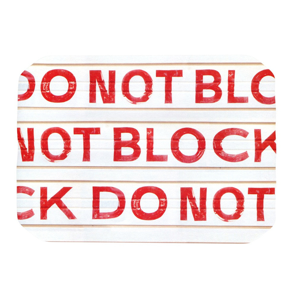 "Heidi Jennings ""DO NOT BLOCK"" White Red Place Mat - KESS InHouse"