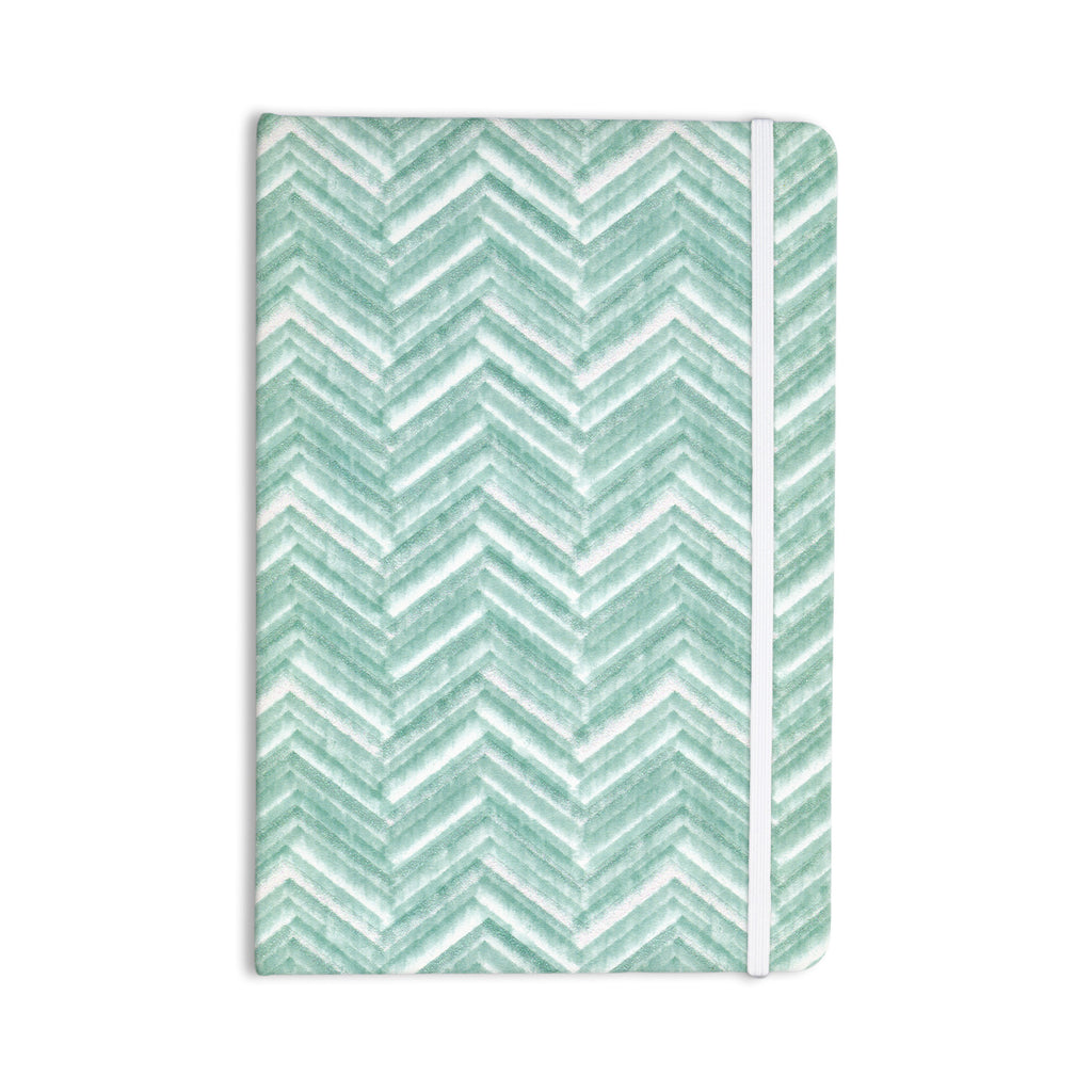 "Heidi Jennings ""Painted Chevron"" Teal Green Everything Notebook - KESS InHouse  - 1"