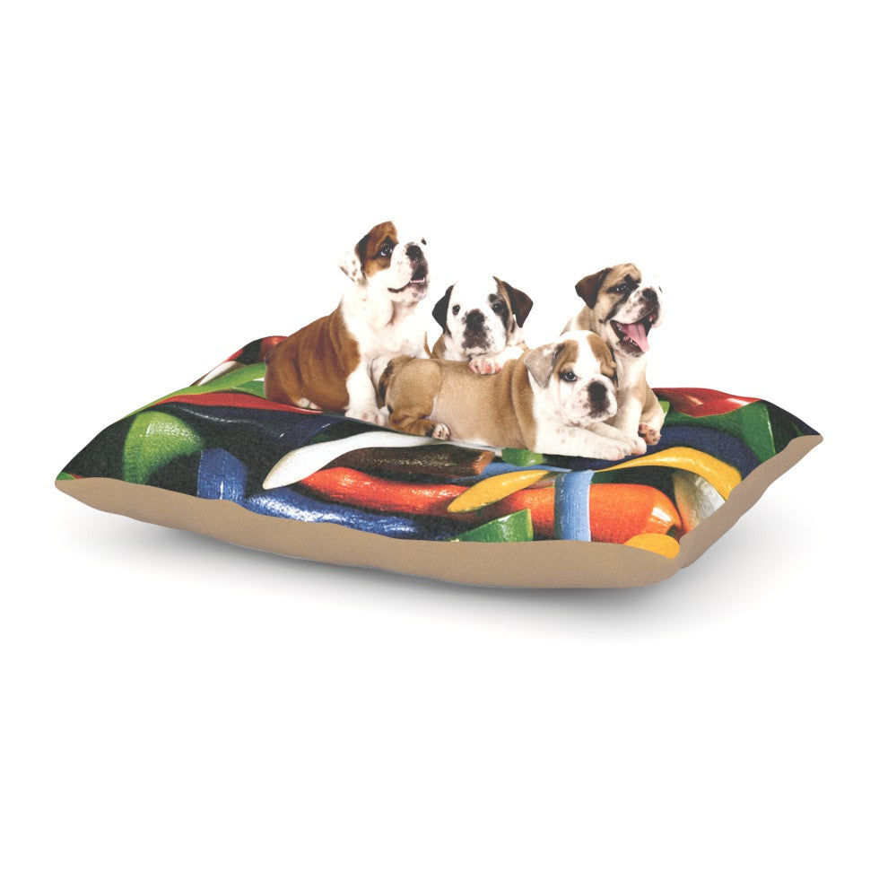 "Heidi Jennings ""Tee'd Off"" Multicolor Dog Bed - KESS InHouse  - 1"