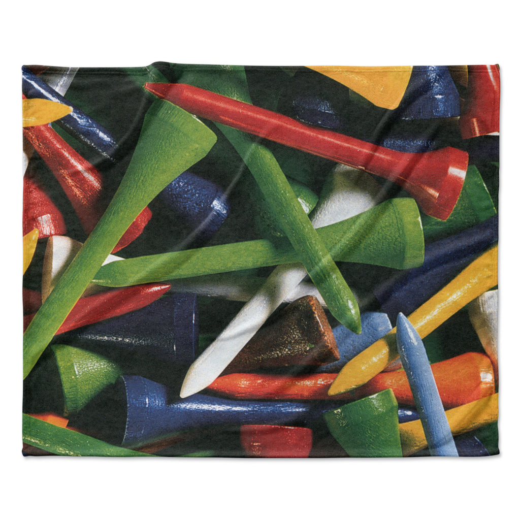 "Heidi Jennings ""Tee'd Off"" Multicolor Fleece Throw Blanket"
