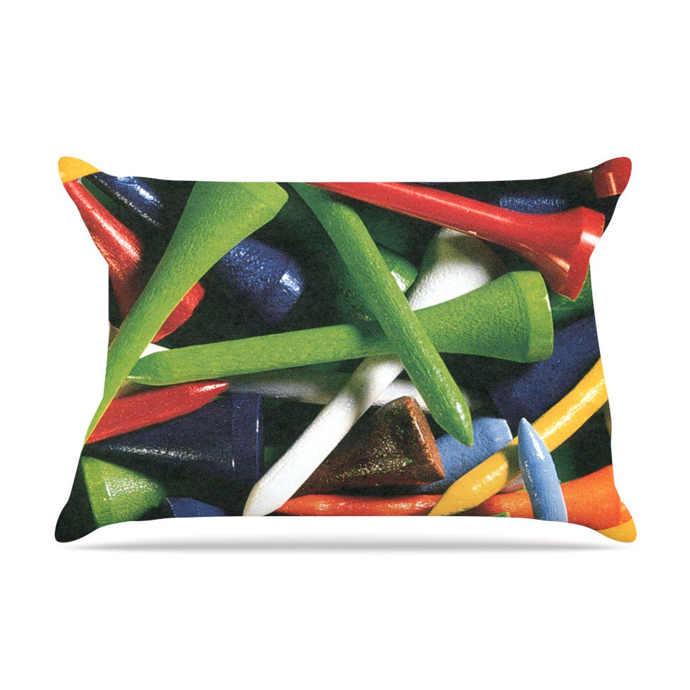 "Heidi Jennings ""Tee'd Off"" Multicolor Pillow Sham - KESS InHouse"