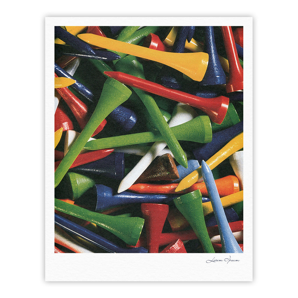 "Heidi Jennings ""Tee'd Off"" Multicolor Fine Art Gallery Print - KESS InHouse"
