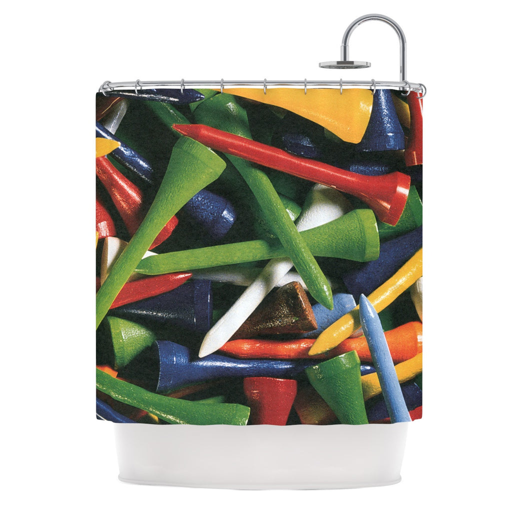 "Heidi Jennings ""Tee'd Off"" Multicolor Shower Curtain - KESS InHouse"
