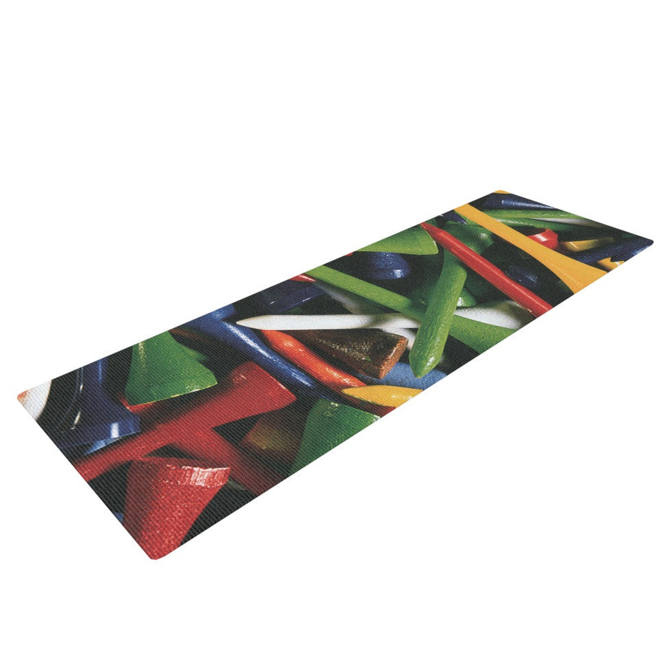 "Heidi Jennings ""Tee'd Off"" Multicolor Yoga Mat - KESS InHouse  - 1"