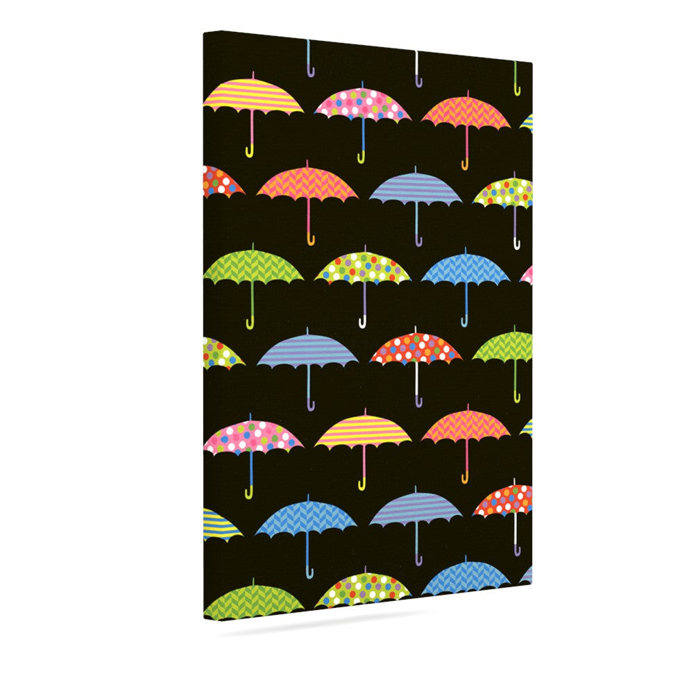 "Heidi Jennings ""Umbrella"" Multicolor Canvas Art - KESS InHouse  - 1"