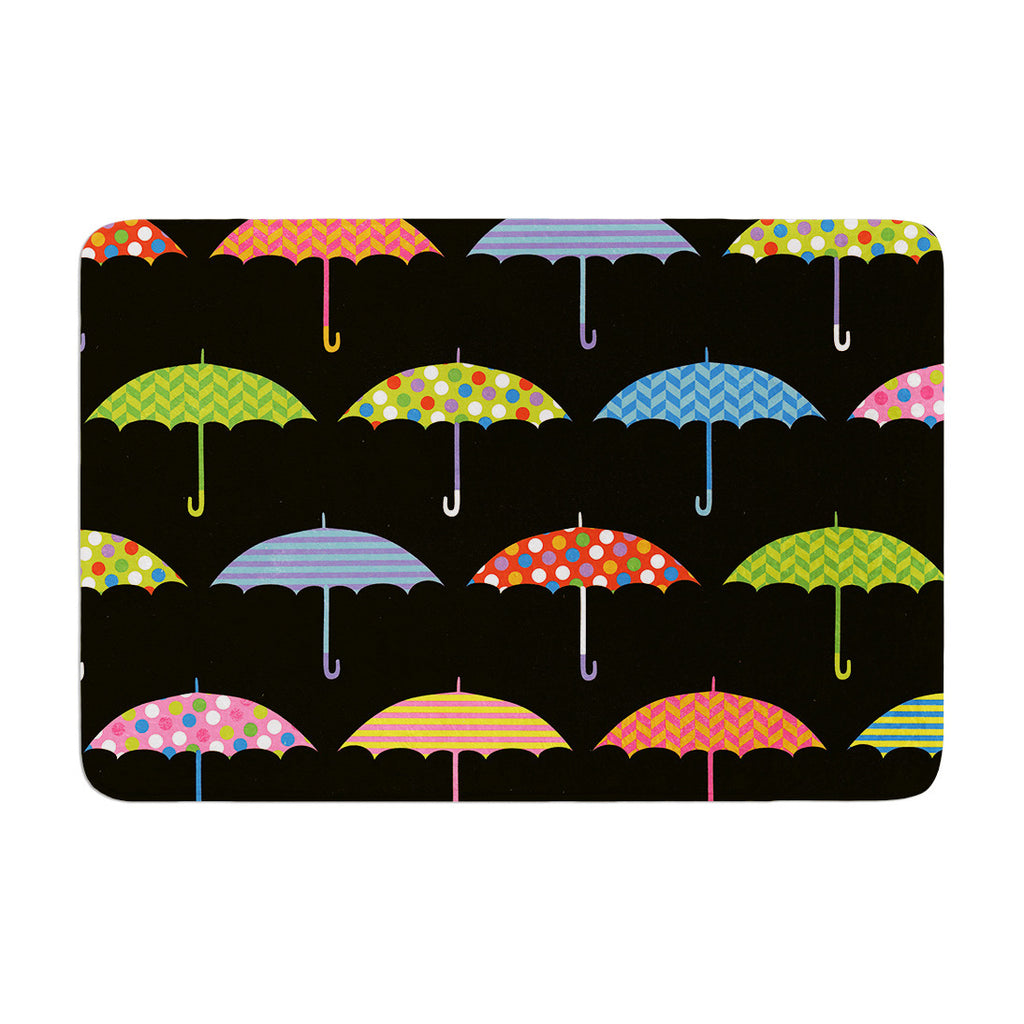 "Heidi Jennings ""Umbrella"" Multicolor Memory Foam Bath Mat - KESS InHouse"