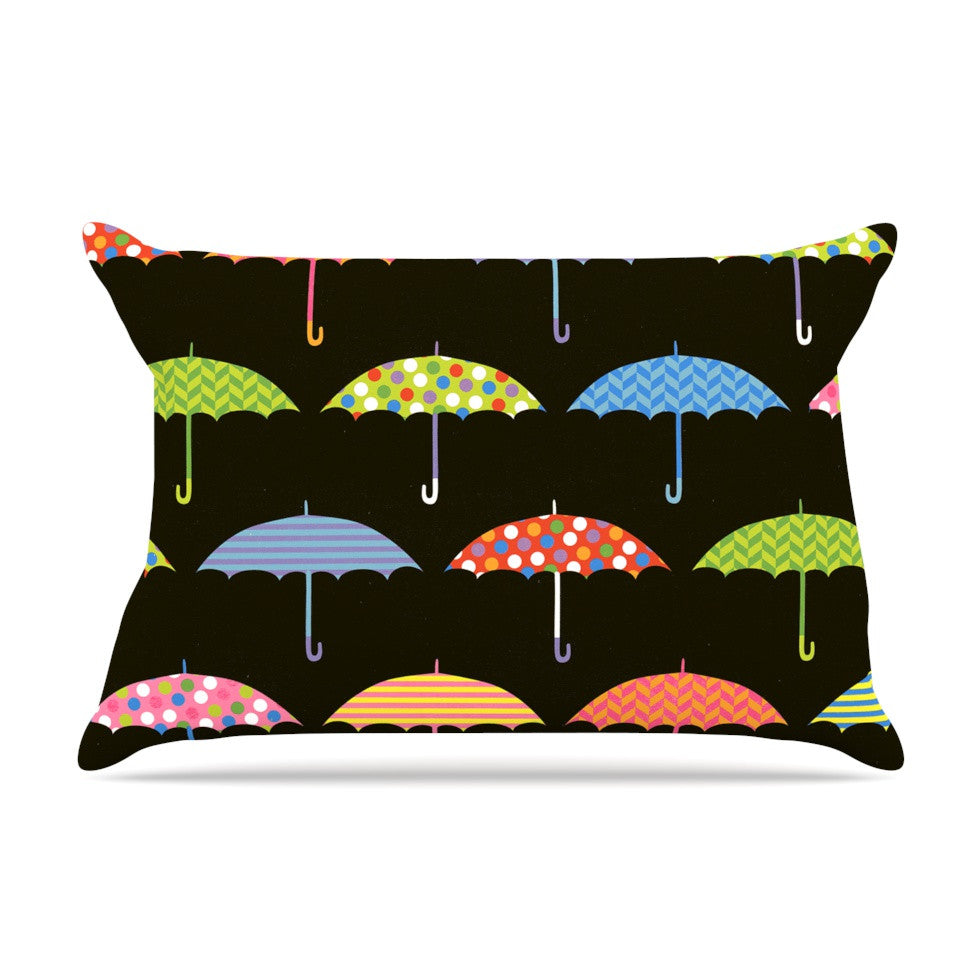 "Heidi Jennings ""Umbrella"" Multicolor Pillow Sham - KESS InHouse"
