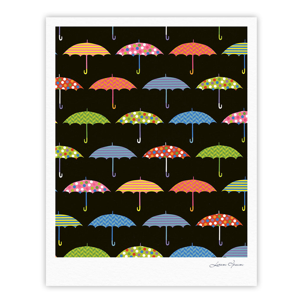 "Heidi Jennings ""Umbrella"" Multicolor Fine Art Gallery Print - KESS InHouse"