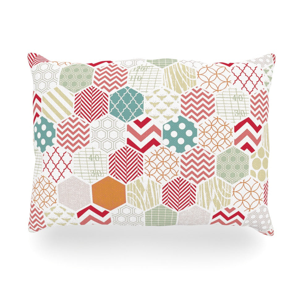 "Heidi Jennings ""Geo Pastel"" Geometric Oblong Pillow - KESS InHouse"
