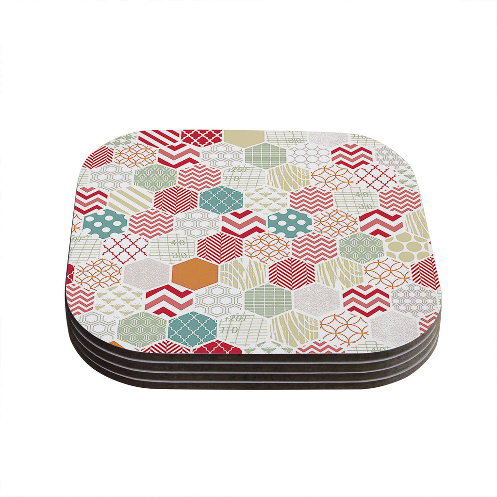 "Heidi Jennings ""Geo Pastel"" Geometric Coasters (Set of 4)"