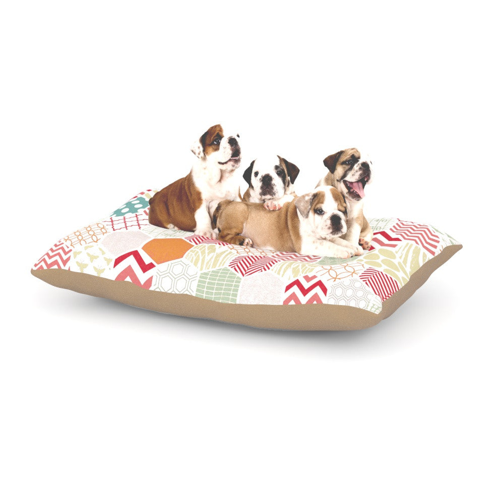 "Heidi Jennings ""Geo Pastel"" Geometric Dog Bed - KESS InHouse  - 1"