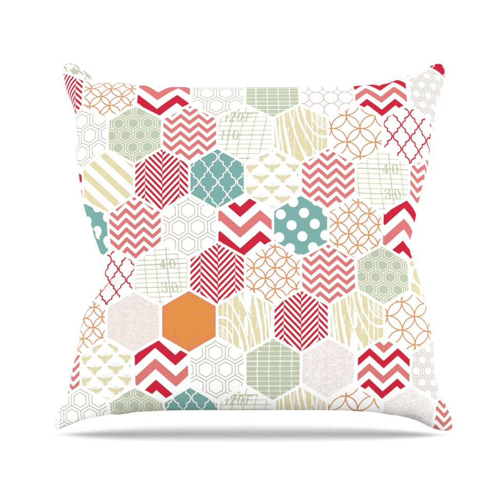 "Heidi Jennings ""Geo Pastel"" Geometric Outdoor Throw Pillow - KESS InHouse  - 1"