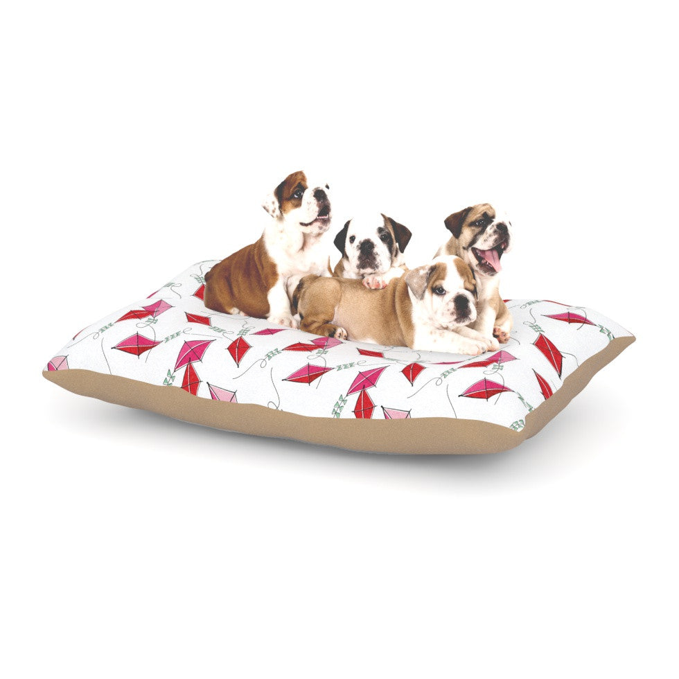 "Heidi Jennings ""Go Fly A Kite"" White Pink Dog Bed - KESS InHouse  - 1"